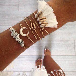 Couture Bling Stones Tassels Attitude Bracelet